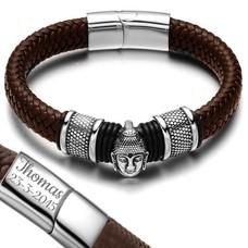 Armband met Naam Boeddha armband graveren bruin