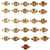 Letter sieraden Losse Letters Rosé Goud voor de letter Ketting en Armband