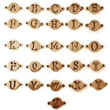 Sieraden met naam Rosé Gouden Letters voor Armband met Naam