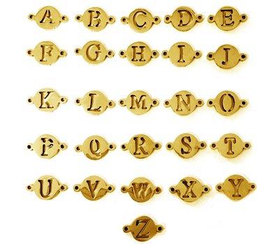 Letter sieraden Losse Letters Goud voor de letter Ketting en Armband