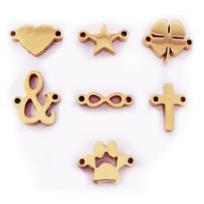 Sieraden met naam Rosé Gouden Symbolen voor Armband met Naam