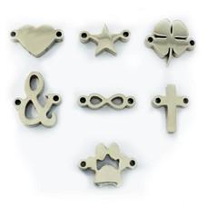 Letter sieraden Symbolen Zilver voor de letter Ketting en Armband