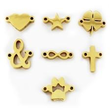Letter sieraden Symbolen Goud voor de letter Ketting en Armband