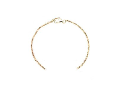 Letter sieraden Armband rosé goud voor de letter Armband