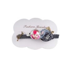 Foto Sieraad Haarspeld bloem decoratie grijs met 1 foto click