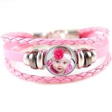 Foto Armbanden Ttriple armband roze met foto