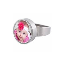 Ring met Foto Ring rvs zilver met foto
