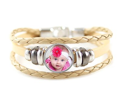 Armband met Foto Armband met Foto Beige Triple