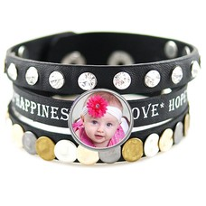 Armband met Foto Armband met Foto Love Zwart