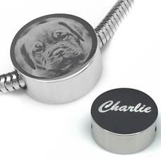 Bedels en Kralen Fotobedel rond zilver