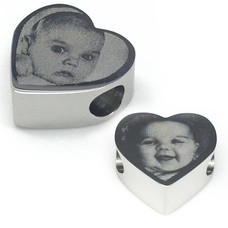 Bedels Kralen Foto Bedel voor BedelArmband hart Zilver