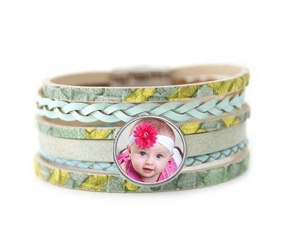 Foto Armbanden Armband leer multi color met foto