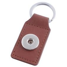 Clicks Sieraden Clicks sleutelhanger bruin rechthoek