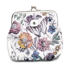 Clicks Sieraden Knip portemonnee bloemen en vlinder