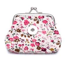 Clicks Sieraden Knip portemonnee flowers roze