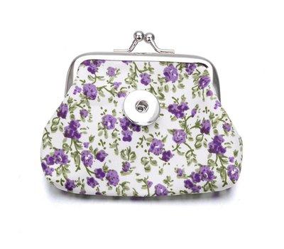 Clicks Sieraden Knip portemonnee flowers paars