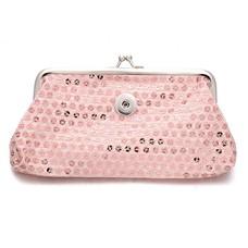 Clicks Sieraden Knip portemonnee pailletten groot licht roze