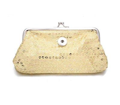 Clicks Sieraden Knip portemonnee pailletten groot goud