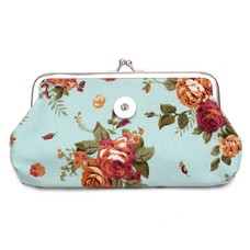 Clicks Sieraden Knip portemonnee groot bloemen mint