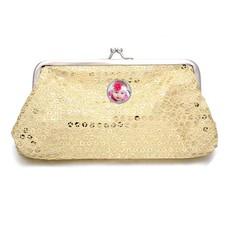 Portemonnee met foto Knip portemonnee pailletten groot goud met foto