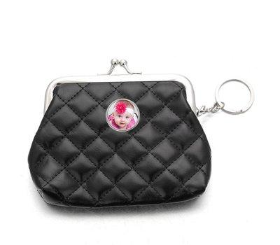 Portemonnee met foto Knip portemonnee glossy zwart met foto