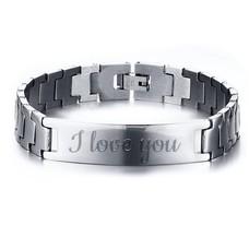 Armband met Naam Heren armband graveren zilver