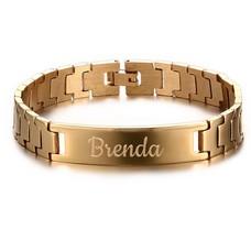 Armband met Naam Heren armband graveren goud