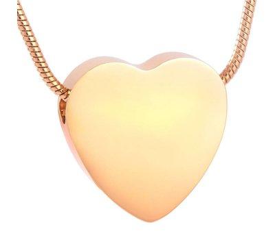 Ashangers Ashanger hart egaal goud inclusief ketting