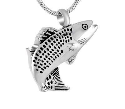 Assieraden Assieraad Ashanger vis zilver inclusief ketting