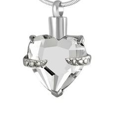 Ashangers Ashanger hart kristal zilver