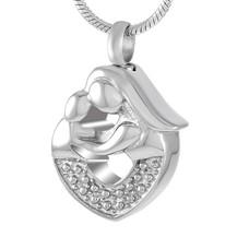 Assieraden Assieraad Ashanger moeder en kind zilver inclusief ketting
