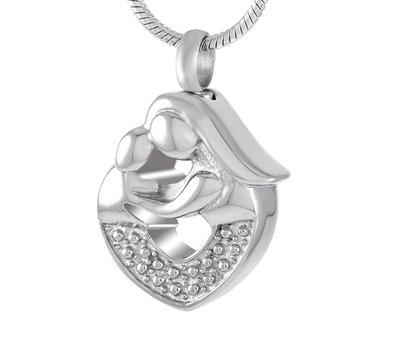 Ashangers Ashanger moeder en kind zilver inclusief ketting