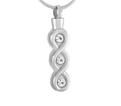 Assieraden | Assieraad Ashanger infinity lang zilver inclusief ketting