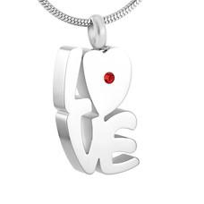 Assieraden Assieraad Ashanger love hart zilver inclusief ketting