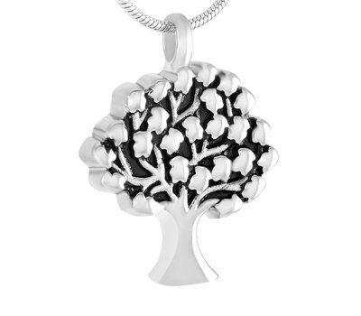 Assieraden Assieraad Ashanger levensboom zilver inclusief ketting