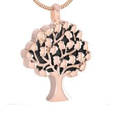 Assieraden | Assieraad Ashanger levensboom rose goud inclusief ketting