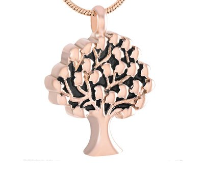 Ashangers Ashanger levensboom rose goud inclusief ketting
