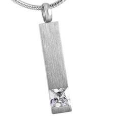 Assieraden Assieraad Ashanger rechthoek crystal zilver inclusief ketting