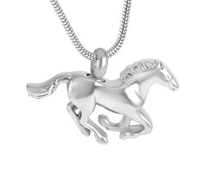 Assieraden Assieraad Ashanger paard zilver inclusief ketting