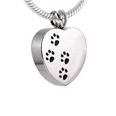 Ashangers Ashanger hart met hondenpootjes zilver