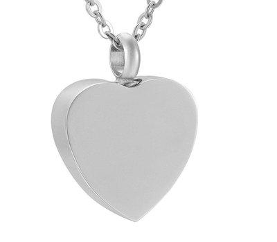 Assieraden Assieraad Ashanger hart forever zilver inclusief ketting