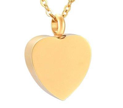 Ashangers Ashanger hart forever goud inclusief ketting