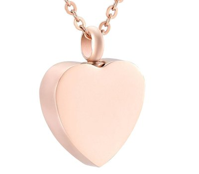 Ashangers Ashanger hart forever rose goud inclusief ketting