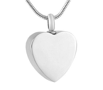 Assieraden Ashanger hart zilver inclusief ketting