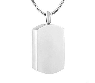Assieraden Assieraad Ashanger dogtag zilver inclusief ketting