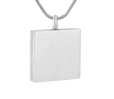 Assieraden Assieraad Ashanger vierkant zilver inclusief ketting