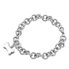 As Armbanden As armband met asbedel hondenbotje zilver