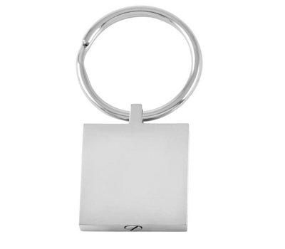 Assieraden As sleutelhanger met foto vierkant zilver