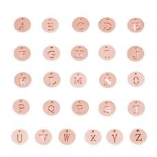 Assieraden Letter bedeltje rose goud