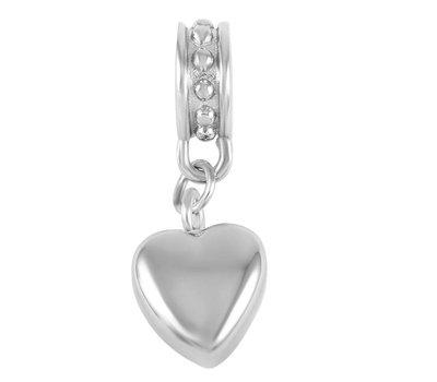 Asbedels Asbedel hartje zilver voor bedelarmbanden